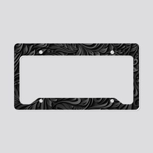 Black Flourish License Plate Holder